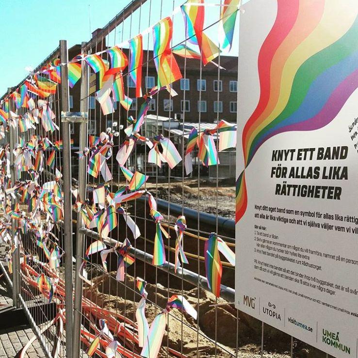 Stängsel i Umeå #hbtq #hbtqia #pride #umeåpride